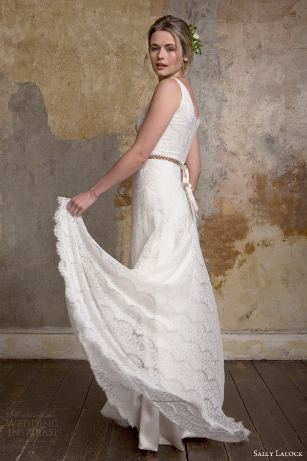 sally lacock bridal 2015 camille classic sleeveless lace wedding dress straps