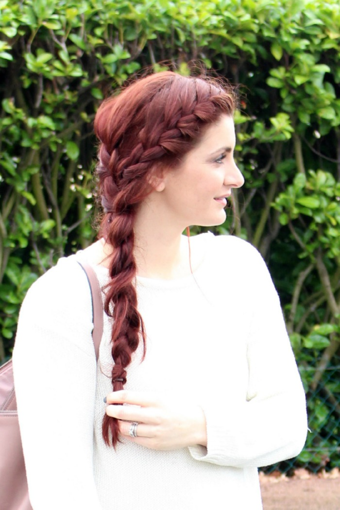 double French braid for long hair