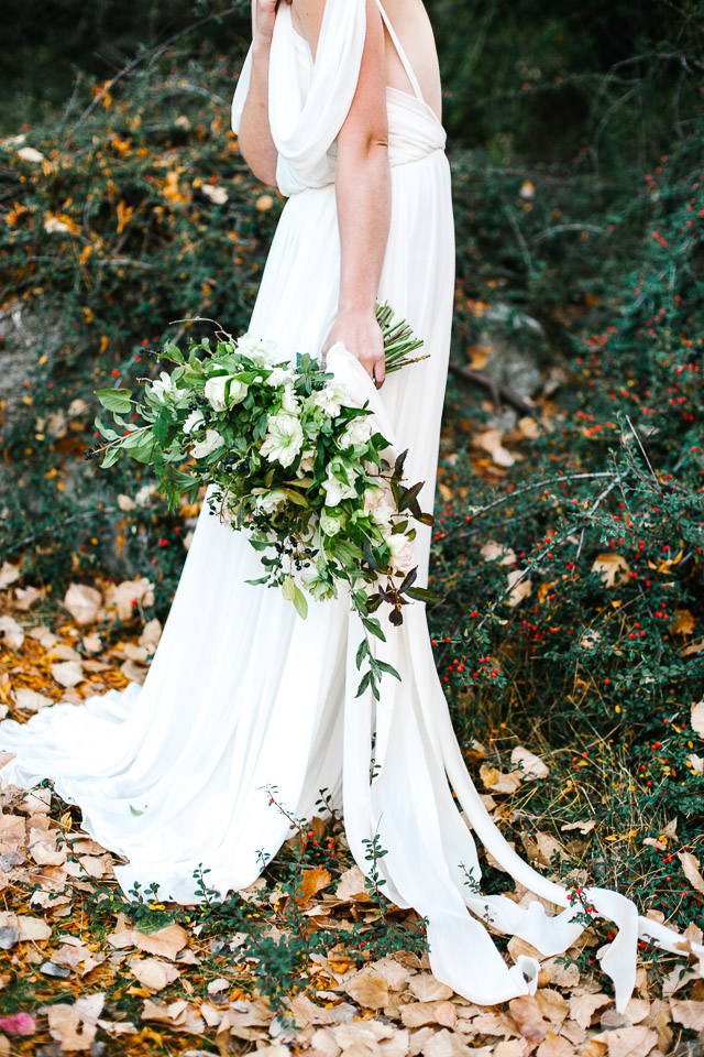 Hand-tied bridal bouquet | Mary Claire Photography | see more on: http://burnettsboards.com/2015/04/dreaming-calligraphy-wedding-editorial/