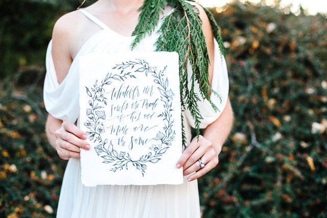 Calligraphy wedding sign | Mary Claire Photography | see more on: http://burnettsboards.com/2015/04/dreaming-calligraphy-wedding-editorial/