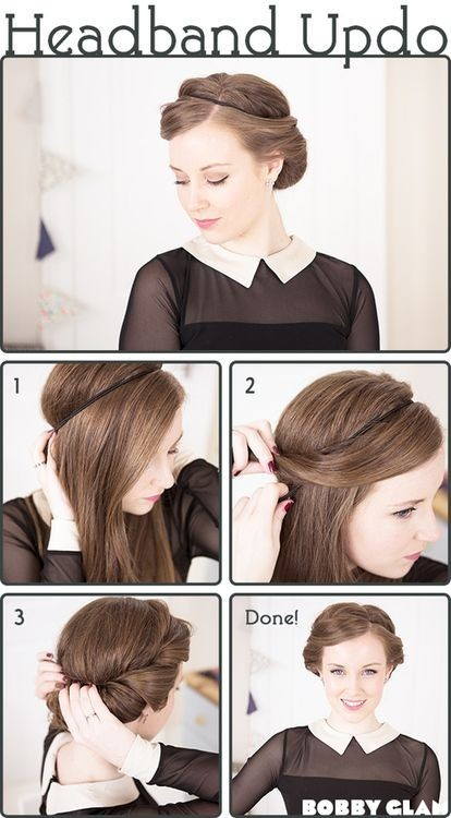 Pretty Headband Updo Tutorial
