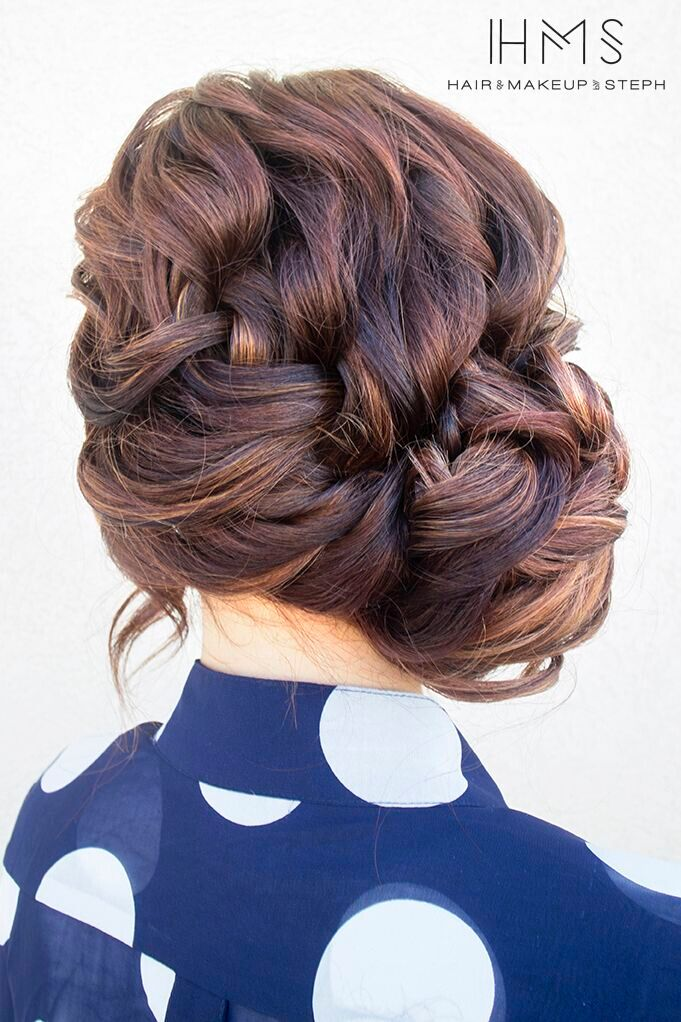 French Side Braid Updo for Everyday Hairstyles