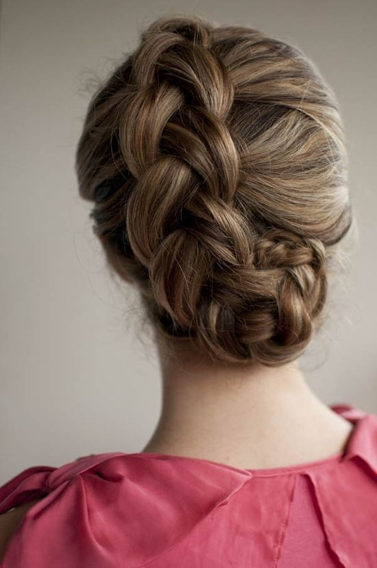 Dutch Braided Updo Hairstyle for Long Hair
