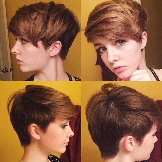 Easy Short Haircut with Side Swept Bangs