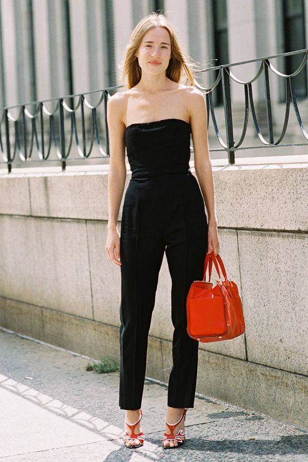 jumpsuit bold accessory