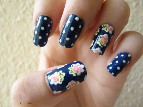 flower-nail-designs-for-short-nails