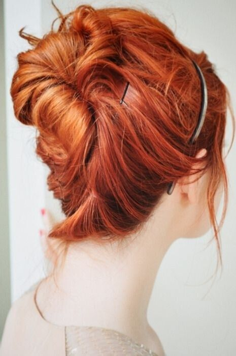 Easy Bun Updo for Medium Hair
