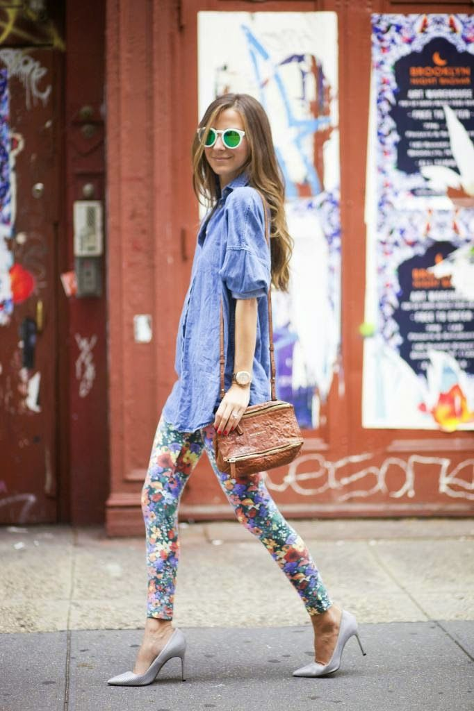 floral leggings and tunic