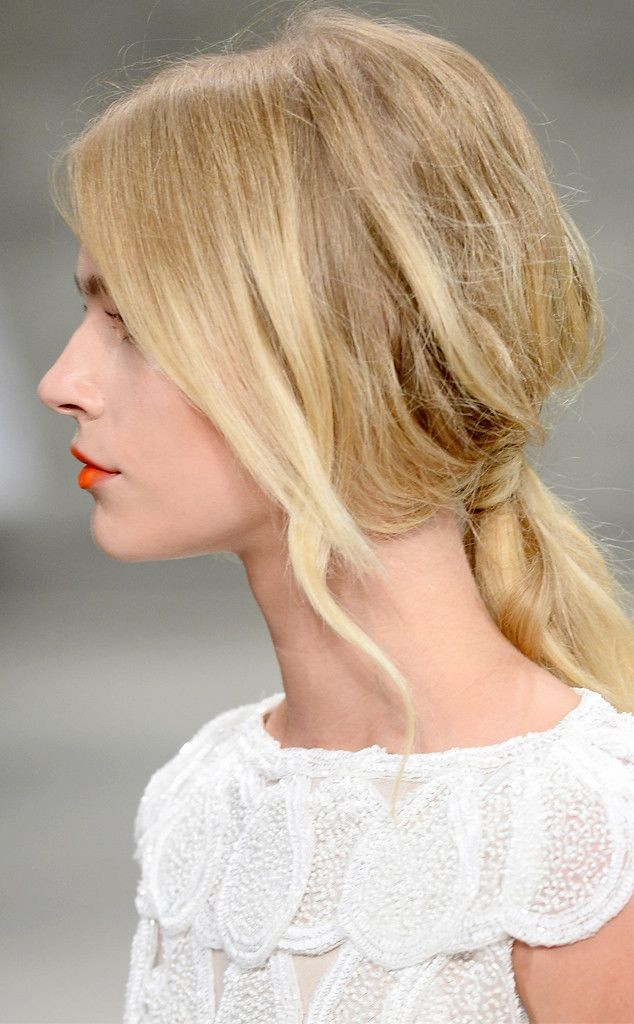 wispy low ponytail