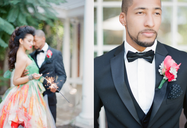 groom boutonniere - photo by Shannon Duggan Photography http://ruffledblog.com/propel-workshop-shoot-with-a-handpainted-gown