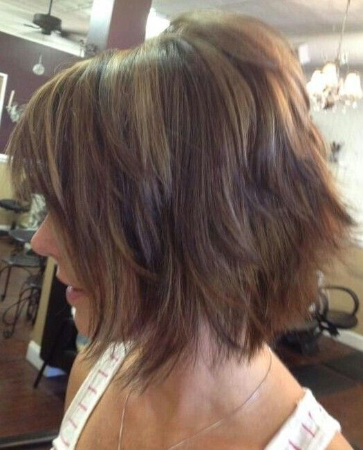 Sleek Shaggy Bob Cut