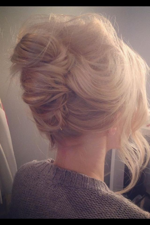 French Twisted Updo for Bridesmaids Hairstyles