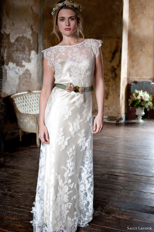 sally lacock bridal 2015 flora french lace wedding dress