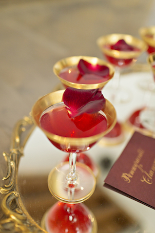 Pomegranate and champagne | Courtney Bowlden Photography | see more on: http://burnettsboards.com/2015/04/burgundy-gold-wedding-ideas/