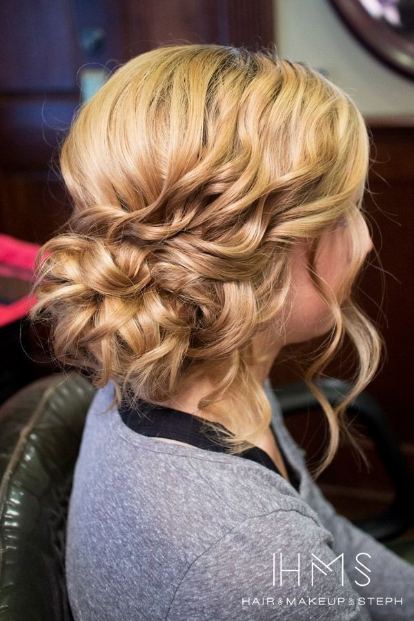 Twisted Side Updo for Curly Hair