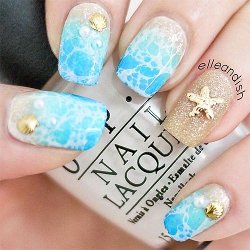 18 Beach Nail Art Designs Ideas Trends Stickers 2015 Summer Nails 5 18 Beach Nail Art Designs, Ideas, Trends & Stickers 2015 | Summer Nails