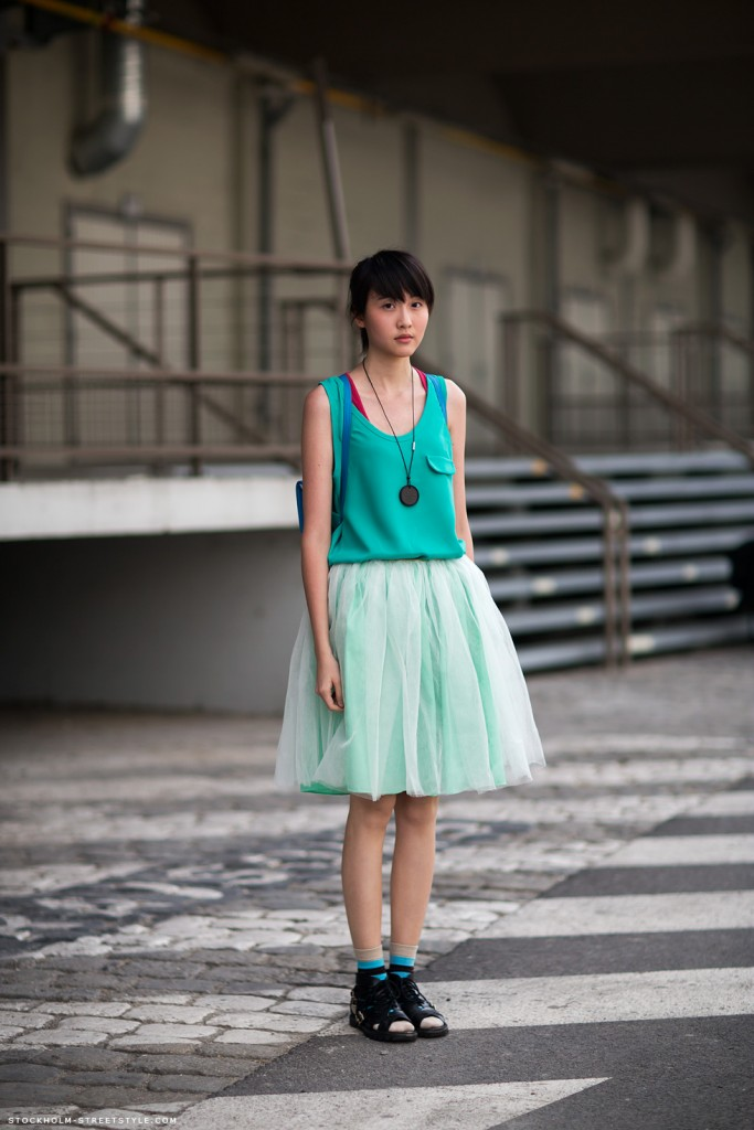tulle skirt and top