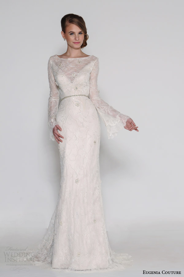 eugenia couture bridal spring 2016 fiona flared long sleeve mermaid wedding dress