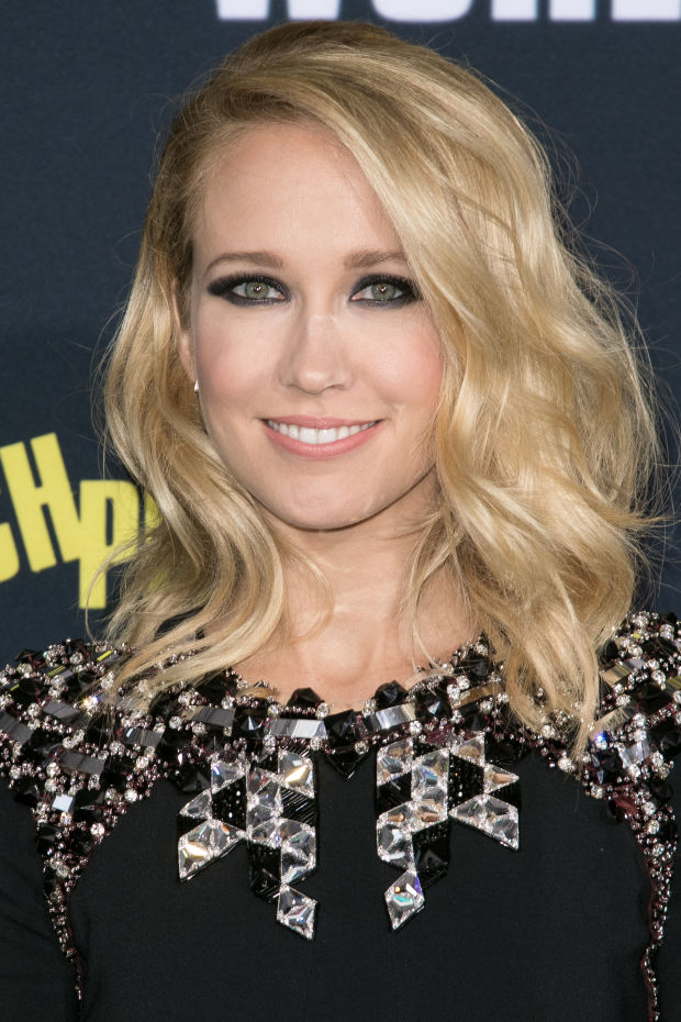 Anna Camp at the 2015 premiere of 'Pitch Perfect 2'.