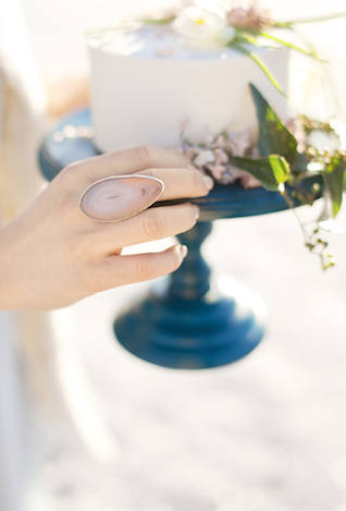 Pink geode ring | Ann Imagines | see more on: http://burnettsboards.com/2015/05/love-story-pastels/