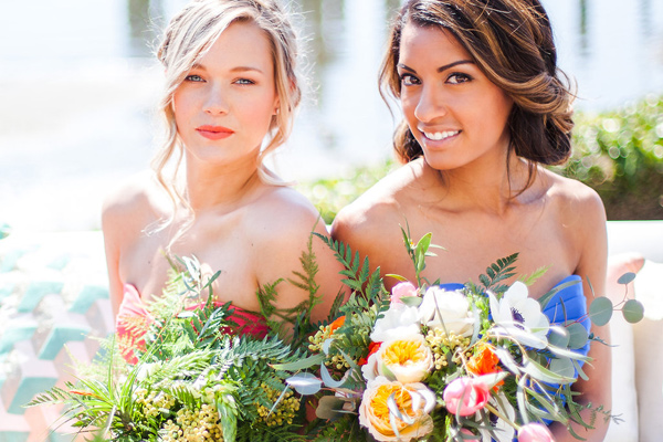 modern bridesmaid makeup - photo by Samantha McFarlen http://ruffledblog.com/seattle-watercolor-wedding-editorial