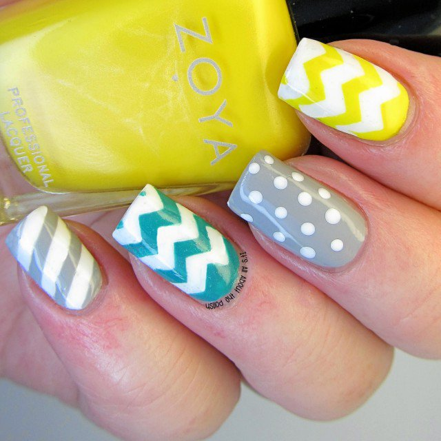 16 Zig Zag Nail Art Designs To Try This Spring Nail Design