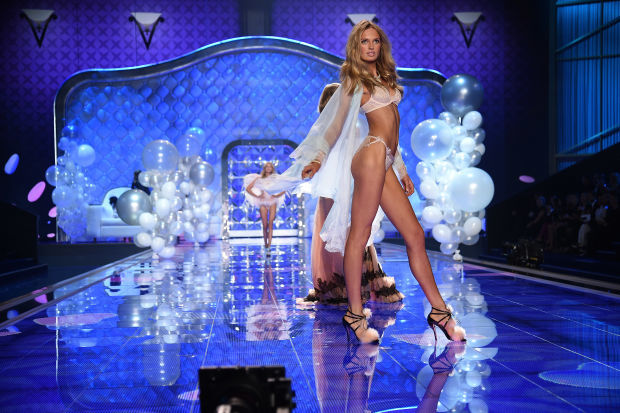 Romee Strijd at the 2014 Victoria's Secret Fashion Show.