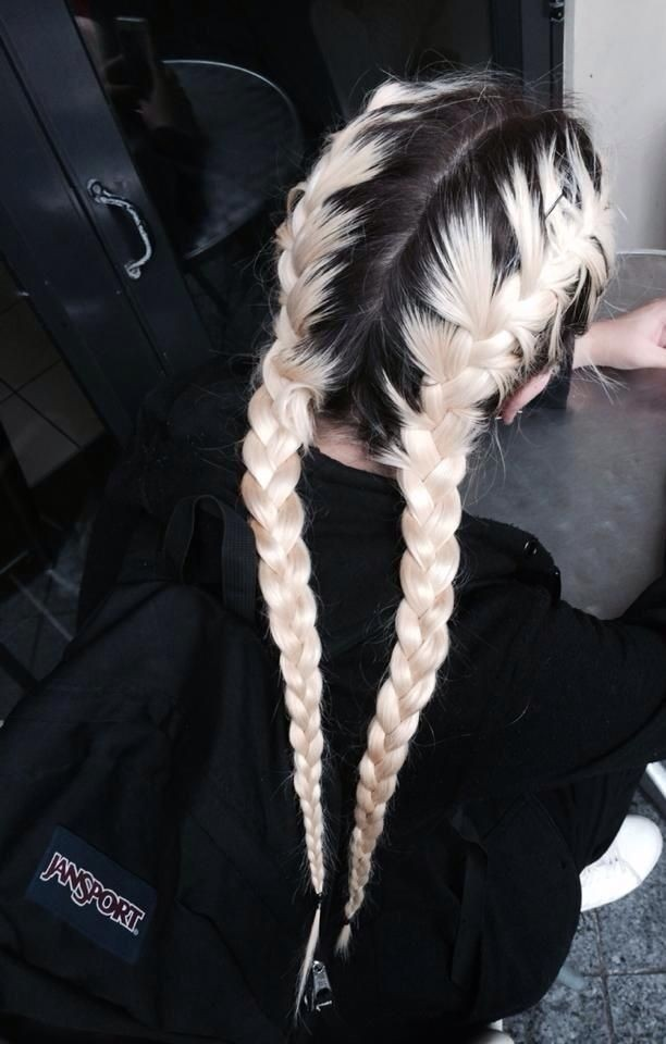Braided Hairstyle for Blond Ombre Hair