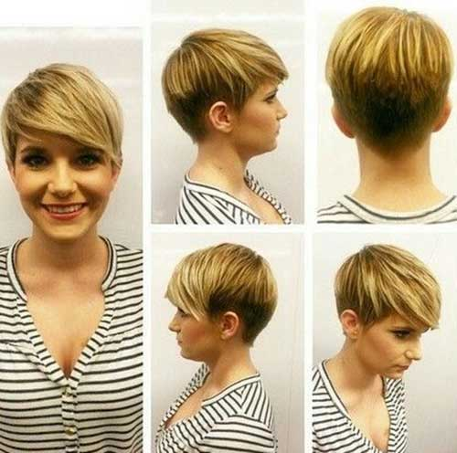 Trendy Short Haircuts for Round Face