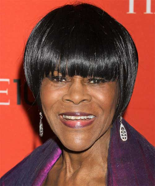 Short Haircuts with Bangs For Black Women Over 50