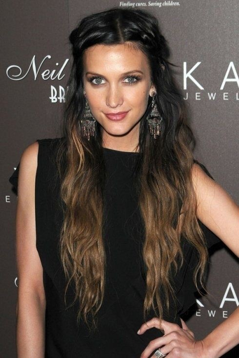 Pretty Half-up Hairstyle for Long Black Blond Hair