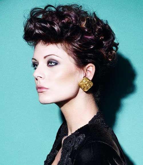Short Curly Style Wedding Hair Ideas