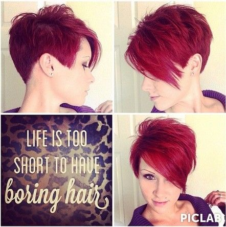 Short Spikey Hairstyle for Straight Hair