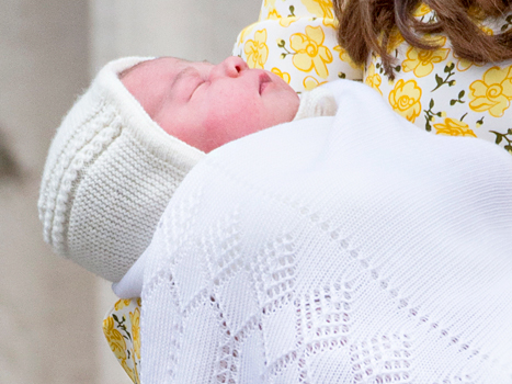 Princess Charlotte's debut outfit (a bonnet, booties, and sweater!)