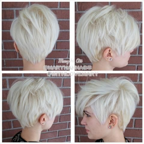 Blond Pixie Haircut for Short Hair