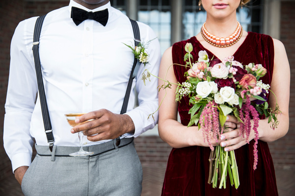 groomsman and bridesmaid - photo by Krista Esterling Photography http://ruffledblog.com/modern-meets-1920s-wedding-editorial