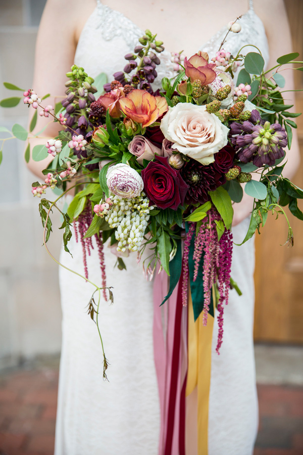 burgundy bouquet - photo by Krista Esterling Photography http://ruffledblog.com/modern-meets-1920s-wedding-editorial