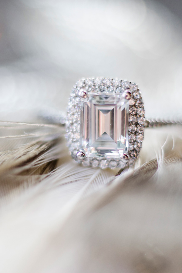emerald cut engagement ring - photo by Anne Victoria Photography http://ruffledblog.com/modern-meets-1920s-wedding-editorial