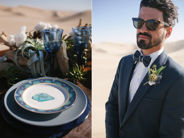 groom looks - photo by Ashley Williams Photography http://ruffledblog.com/california-sand-dunes-wedding