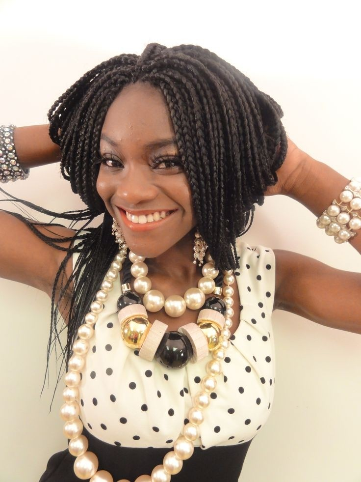 Pretty Box Braids for African American Women Hairstyles