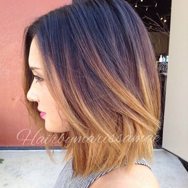 Ombre Bob Hairstyle for Mid-length Hair