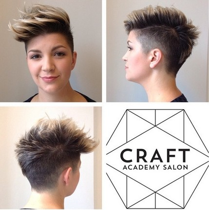 Short Spikey Hairstyle for Round Face