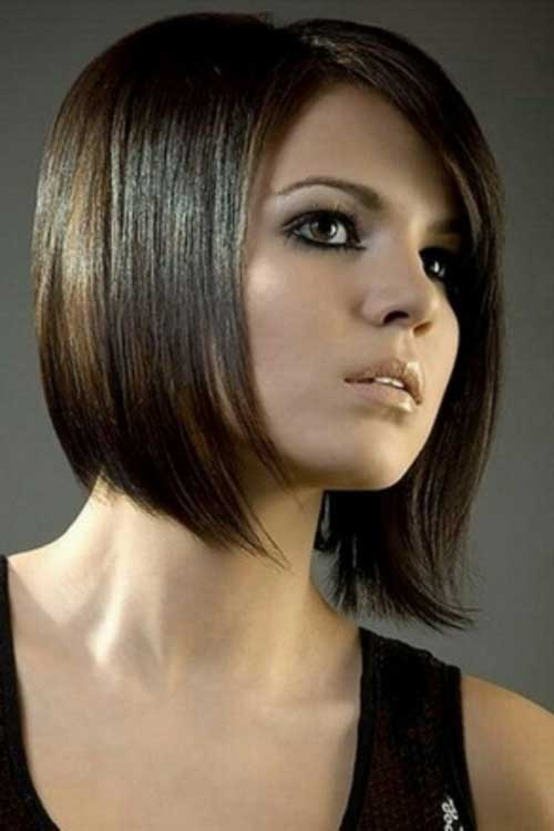 Brunette A Line Bob Hairstyles