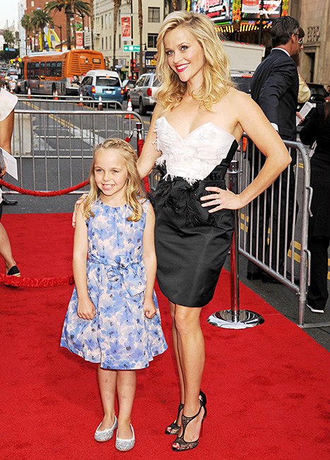 So cute! Reese Witherspoon and her niece, Abby James, walked the carpet together at the L.A. premiere of Hot Pursuit.