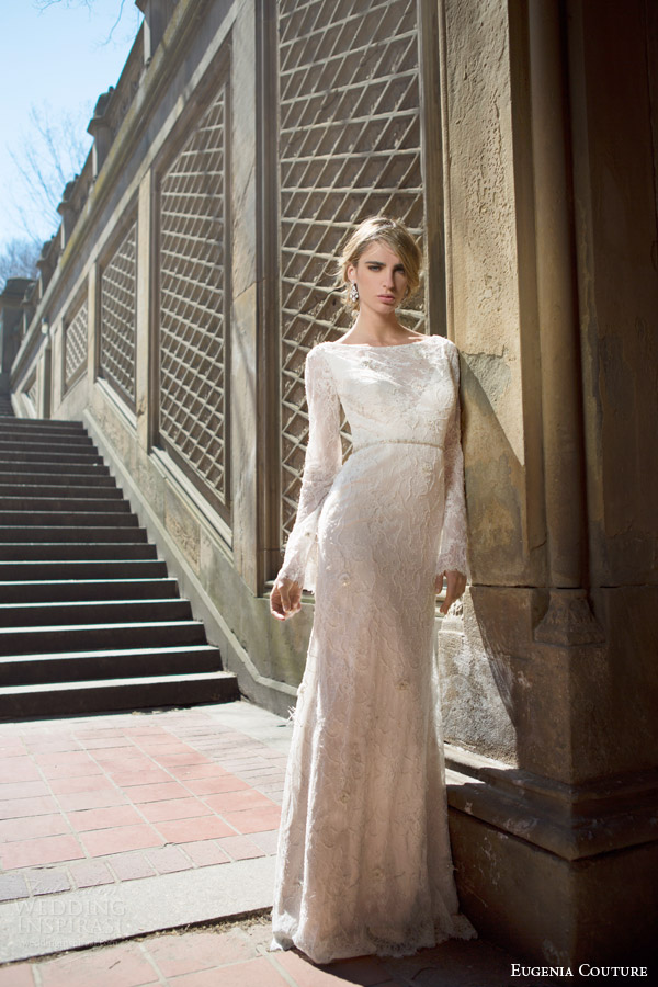 eugenia couture bridal spring 2016 campaign fiona flared long sleeve mermaid wedding dress