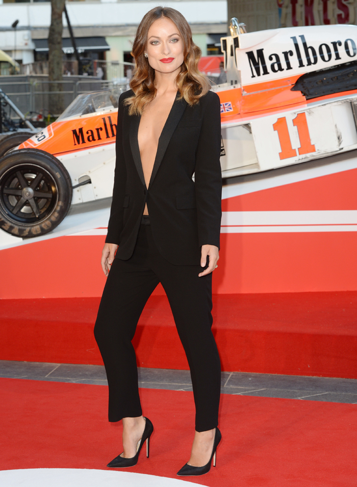 two piece suit olivia wilde