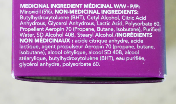 The ingredients in new Women's Rogaine.