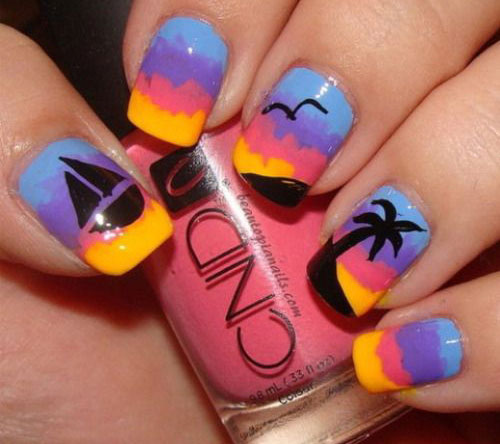 18 Beach Nail Art Designs Ideas Trends Stickers 2015 Summer Nails 4 18 Beach Nail Art Designs, Ideas, Trends & Stickers 2015 | Summer Nails