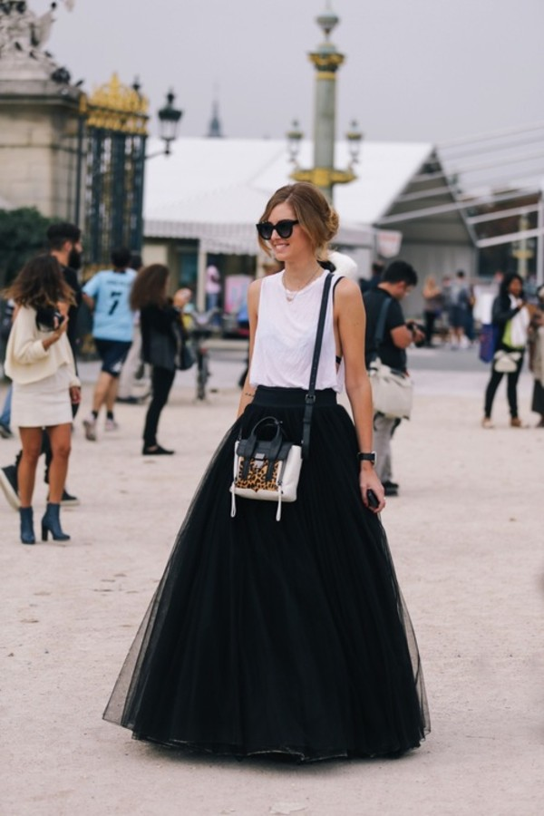 tulle skirt full and sleeveless top