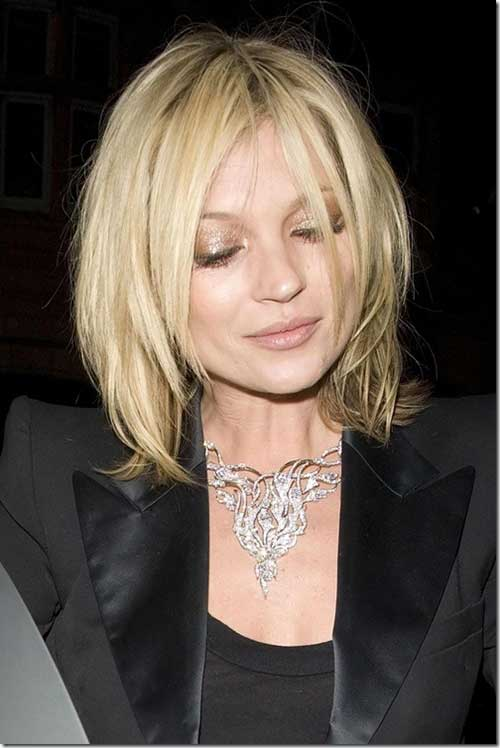 Kate Moss Hairstyles for Round Faces